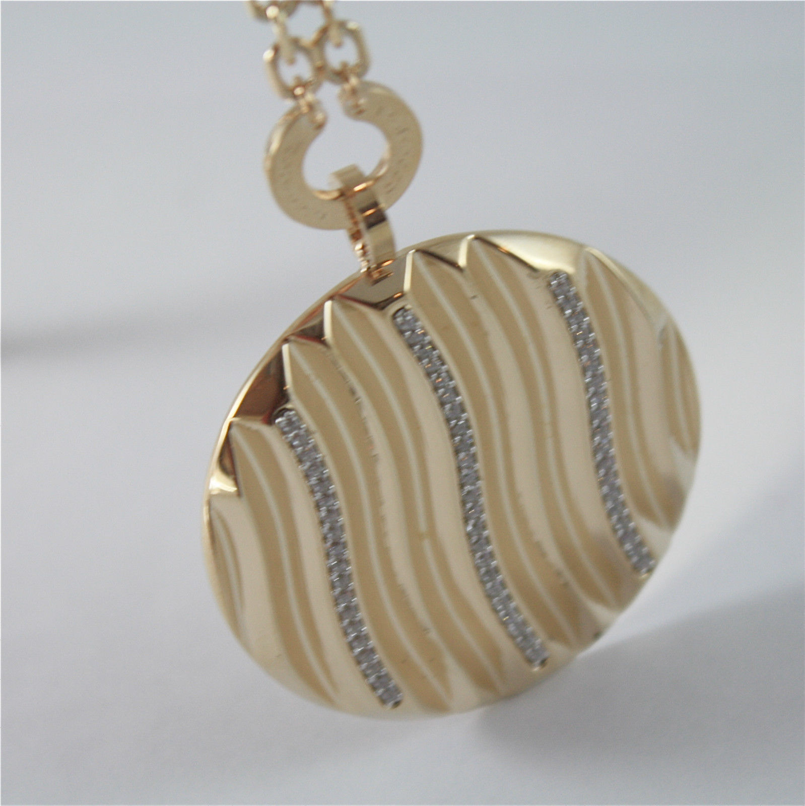 YELLOW GOLD PLATED BRONZE REBECCA NECKLACE SAHARA BSAKOZ25 MADE IN ITALY CRYSTAL