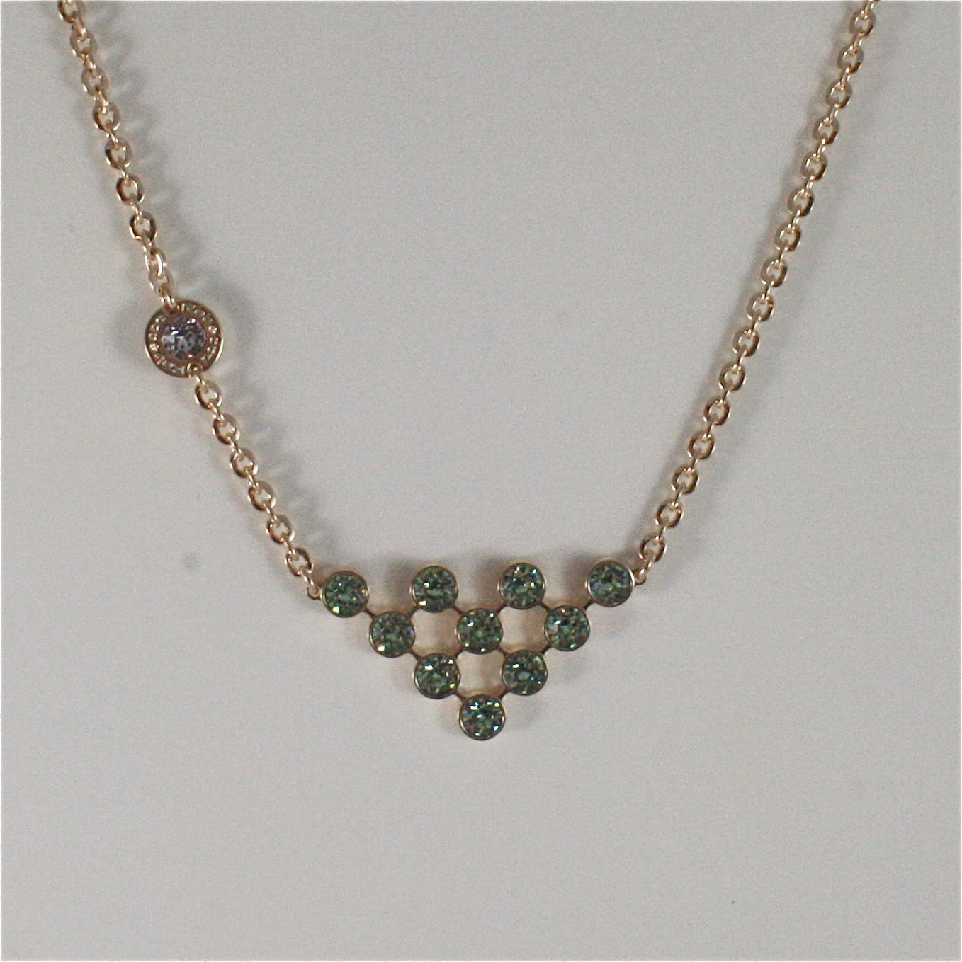 YELLOW GOLD PLATED BRONZE REBECCA CLUSTER NECKLACE BPBKOE05 MADE IN ITALY 18.90