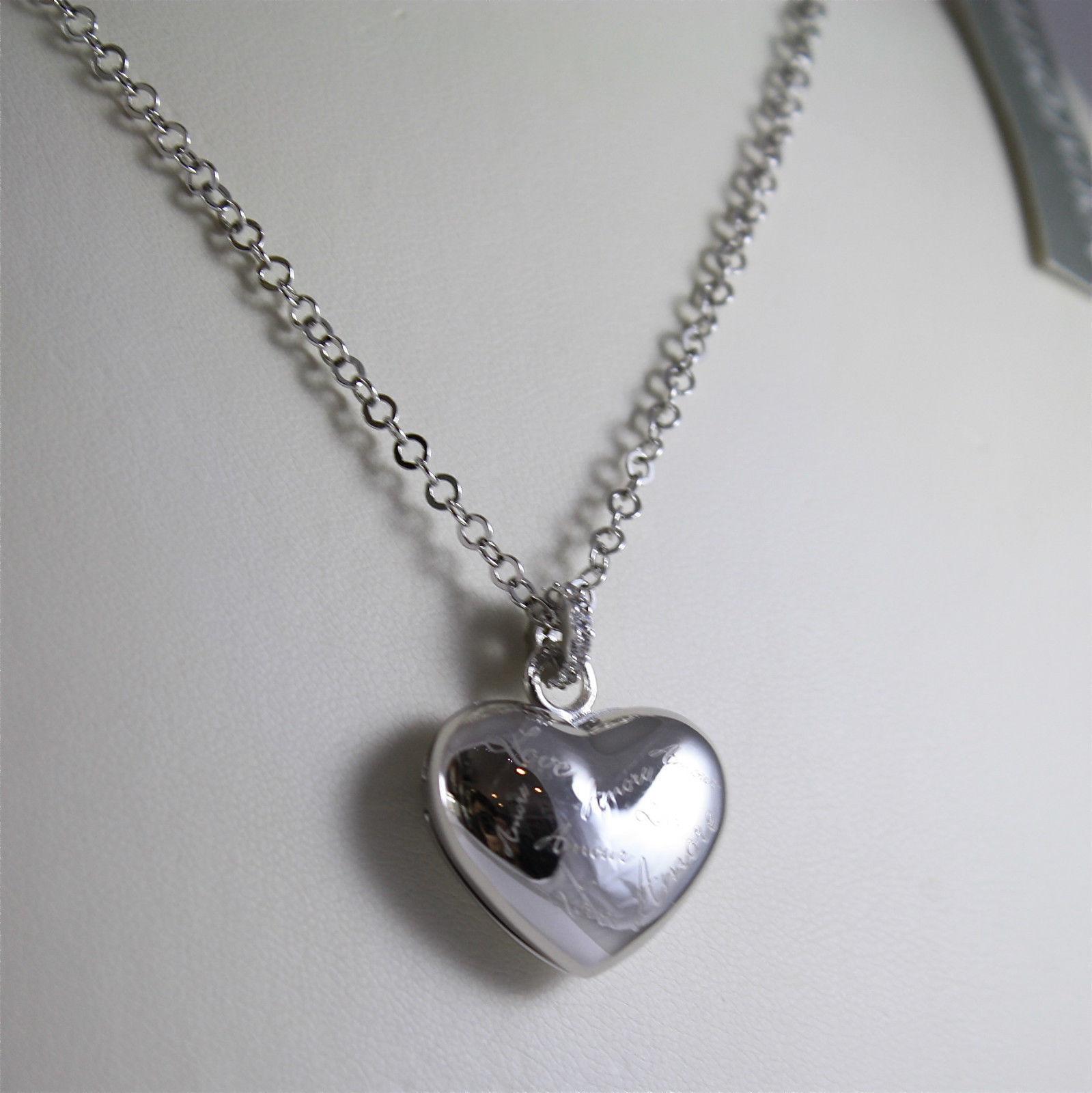 925 SILVER, AQUAFORTE NECKLACE, RHODIUM TREATMENT, SECRET-HEART CHARM