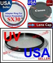 Filter Adapter Ring UV Lens Cap For Canon Power... - $22.70