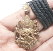 LORD BRAHMA TRIMURTI HINDU GOD DEITY BLESS AMULET LUCKY SUCCESS PENDANT ... - $26.13