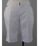 Style & Co White Cargo Burmuda Shorts Size 16 - $21.00
