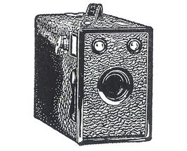 Unmounted Rubber Stamp: Retro Brownie Camera - $2.75