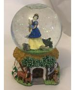 Snow White Snow Globe Disney Music Box (Whistle While You Work) Enesco  - $14.85