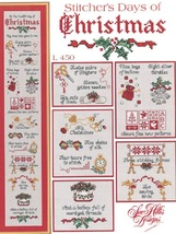 Stitcher's Days Of Christmas cross stitch chart Sue Hillis Designs - $10.80