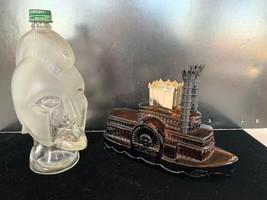 2 Vintage AVON Glass bottles Gladiator and Side Wheeler- Both Empty - $8.00