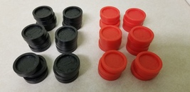 2002 Connect Four Game Replacement Black & Red Pieces (44) Full Set - $9.99