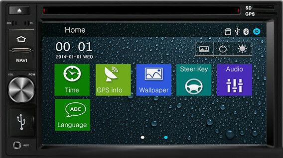 DVD GPS Navigation In Dash Radio and Dash Kit for Kia Sportage 2011-16 Grey image 3