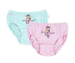 Cartoon Little Girls Underwears Elastic Briefs Panties Set Of 2 Kids Underpants