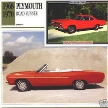 1970 70 1969 69 PLYMOUTH ROAD RUNNER ROADRUNNER COLLECTOR COLLECTIBLE MOPAR - $7.25
