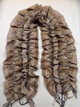 Coldwater Creek Natural/Tan Tapestry Scarf - New - $9.90