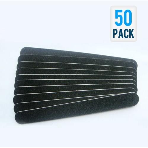 Black Nail Files for Fingernail Care (50-Pack) for sale  USA