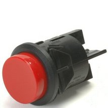 Red 16 Amp Push Off / Push On Push Button Switch With Tab Terminals - $21.95