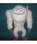 "NEW Disney Monsters Inc YETI PLUSH 17"" Tall White Faux Fur SOFT Snow Monster NWT - $23.75"