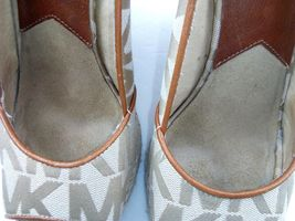 MICHAEL KORS Womens Wedges 7.5 Tan Cabana Peep Toe Platform Espadrilles $144 image 7