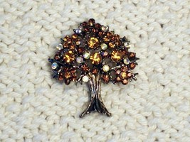 Cookie Lee Autumn Tree Brooch - Item #56056 - Stunning Piece, New! image 1