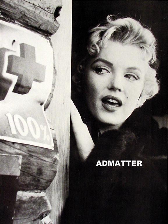 Marilyn Monroe Vintage 2-sided Pin-up Print Bus Stop