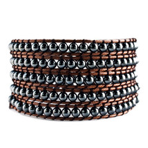 Pugster Beautiful Heidan Stone Beads Wrap Bracelet Brown Cotton Chip Women  - $52.49