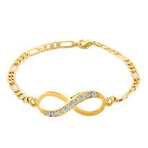 Pugster Infinity Bracelet 14k Gold Plated Clear Lobster Clasps Bracelet  - $14.49