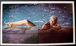 Marilyn Monroe Vintage Pin-up Centerfold Poster Skinny dippin in Pool! - $10.86