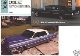 1963 63 1965 CADILLAC FLEETWOOD SIXTY SPECIAL ELDORADO COLLECTOR COLLECT... - $6.58