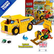 Tomy Megaton Dump Truck Transformer Tomica Construction vehicle set Limited Edit - $148.00