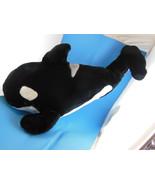 "Sea World Souvenir Killer Whale Orca Plush 21"" plus beverage container w... - $14.58"