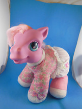 "My Little Pony 9"" Talking Plush Pink Rose Blossom Hasbro 2001 - $13.85"