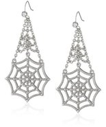 Marvel Comics Spider-Man Web Crystal Dangle Earrings [Jewelry] - $27.72