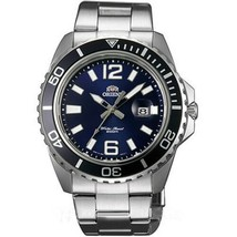 Orient Mens Submariner Silver Steel Bracelet Case Mineral Glass Watch FU... - $176.40