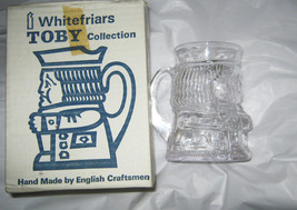 "Whitefriers Clear Toby Mug ""Oliver"" M166 Flint in Box NOS Handmade Engla... - $67.50"