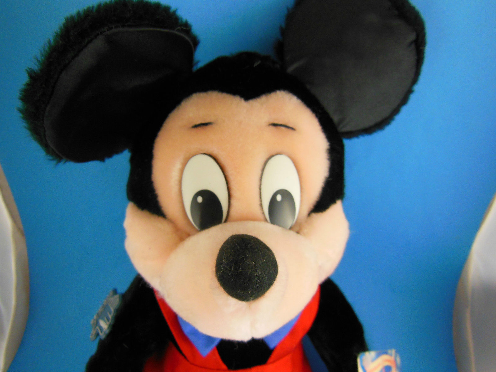 "Vintage Korea Mickey Mouse Doll Disney Applause 17"" inc ears Velvetty fabric MWT image 4"