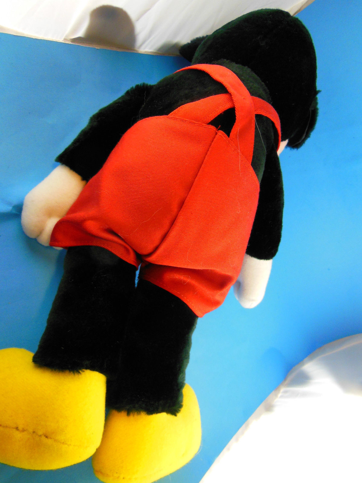 "Vintage Korea Mickey Mouse Doll Disney Applause 17"" inc ears Velvetty fabric MWT image 5"