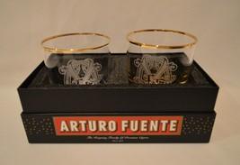 RARE Arturo Fuente Opus X Cigar Cocktail Rocks Glasses In Box - $197.99