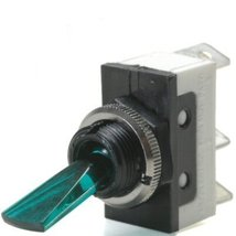 Green 20 Amp On/Off Lighted Lever Toggle Switch... - $20.95