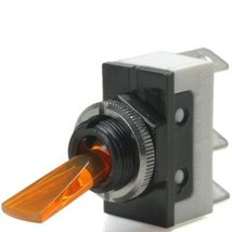 Amber 20 Amp On/Off Lighted Lever Toggle Switch... - $20.95