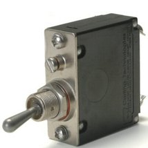 Heavy Duty Automotive 50 Amp Toggle Switch Circuit Breaker With #10 Screw Termin - $48.48