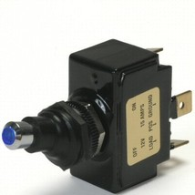 Blue Lighted Tip Off / On 15 Amp Sand Sealed Toggle Switch With Tab Terminals - $21.00