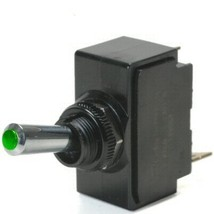 Green Lighted Tip On / Off 15 Amp Toggle Switch With Tab Terminals - $23.95