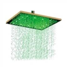 "Fontana 12"" or 16"" Gold Plated Square LED Rain Shower Head (Solid Brass) - $261.99"