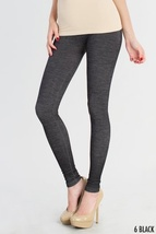 Two Tone Black Leggings One Size Fits Most - $29.50