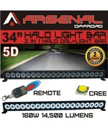 "34"" 5D HALO LED Light Bar by Arsenal Offroad HALO DRL / Super Spot-CREE ... - $142.52"