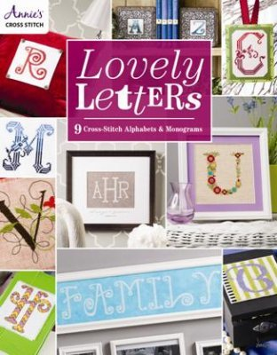 Lovely Letters: 9 Cross Stitch Alphabets cross stitch book Annie's Publications - $16.20