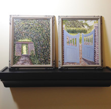Pair of  Framed Oil Paintings Canopy of Trees &... - $57.88