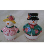 Snowfall Friends Snowman Couple Salt and Pepper Shaker Set - $20.00
