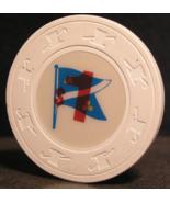 "$1.00 Casino Wet Chip From: ""Atlantic Maritime / Flag""- (sku#2915) - $2.69"