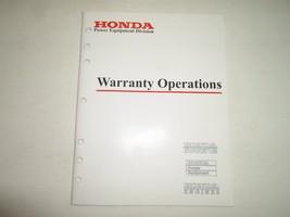 2000 Honda Marine Power Equipment Engines Warranty Operations Manual FACTORY OEM - $23.75
