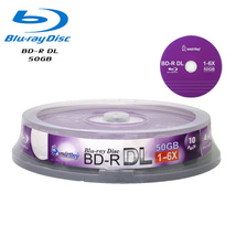 10 Pack Smartbuy 6X BD-R DL 50GB Blu-ray Dual Layer Logo Blank Recordable Disc - $17.99