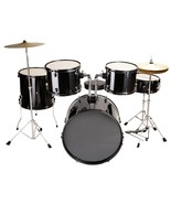 COMPLETE FULL SIZE 5 PIECE ADULT DRUM SET CYMBALS - $209.99