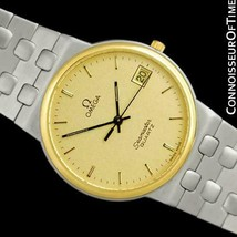 1984 Omega Seamaster Classic Vintage Mens SS Steel & 18K GP Watch - Mint with Wa - $1,171.10